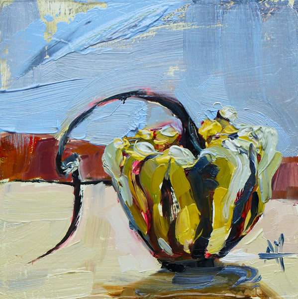 Gourd with Curly Stem Original Oil Painting Angela Moulton