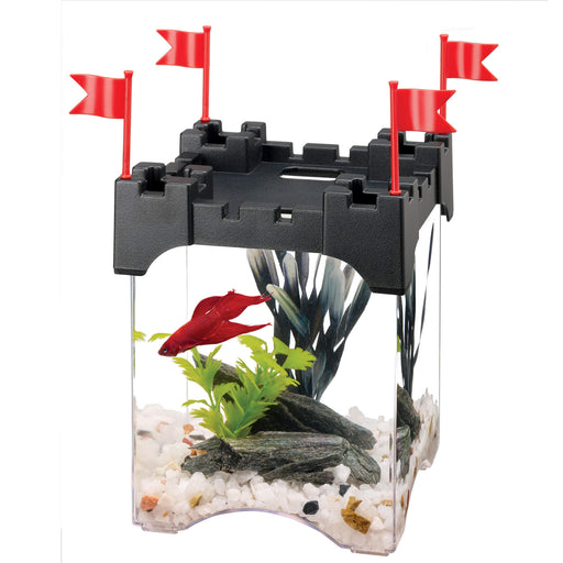 015905012232 100101223 Aqueon Betta Castle Kit 1/2 gallon .5