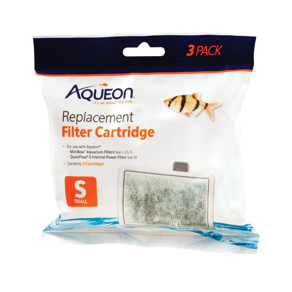 Aqueon Replacement Filter Cartridges, Small 3 Pack