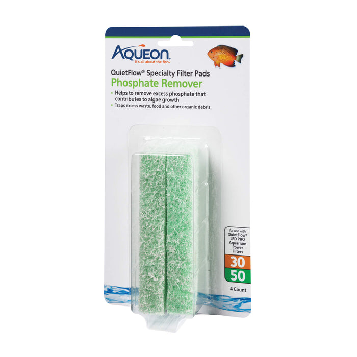 Aqueon Replacement Specialty Filter Pads, Phosphate Remover 4 Pack