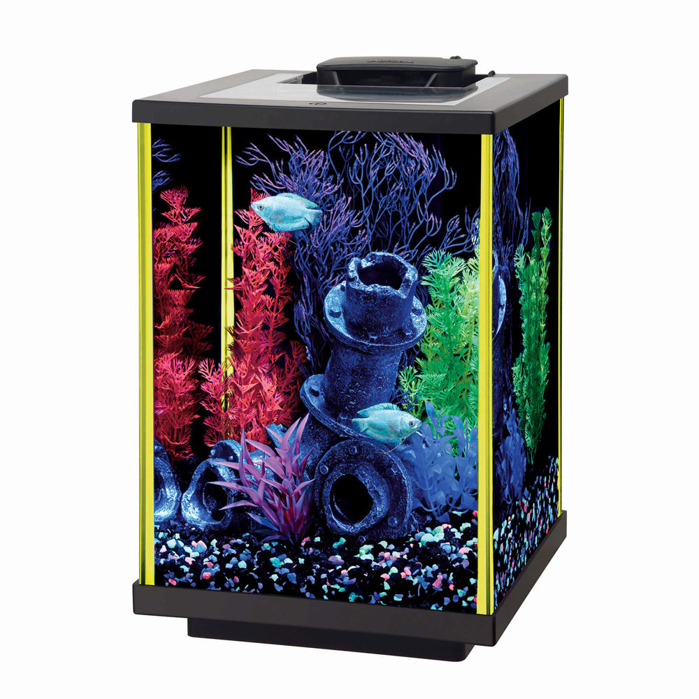 015905178150 Aqueon NeoGlow aquarium 5 gallon column lime green yellow neo glow glo 100121216