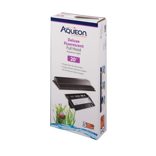 10 gallon fish tank light top aquarium all glass aqueon 015905212205 Fluorescent deluxe full hood