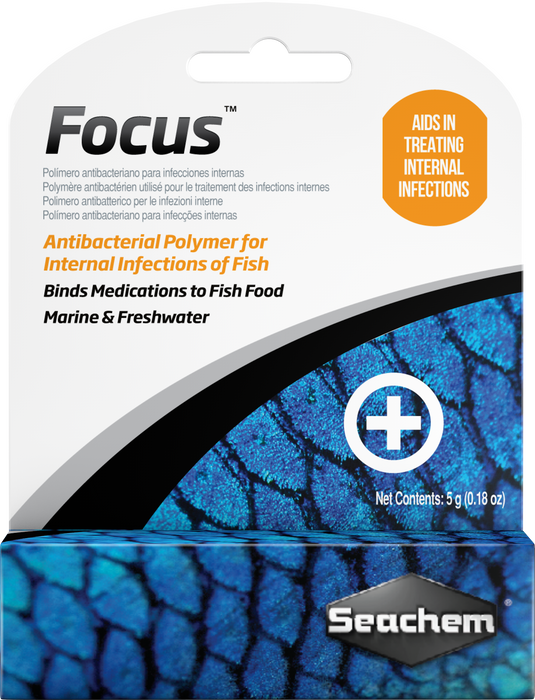 Seachem Focus 5 gm - Binds Medications to Fish Foods
