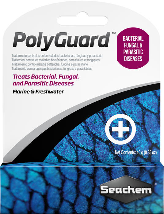 Seachem PolyGuard 10 gm - Broad Spectrum Medication