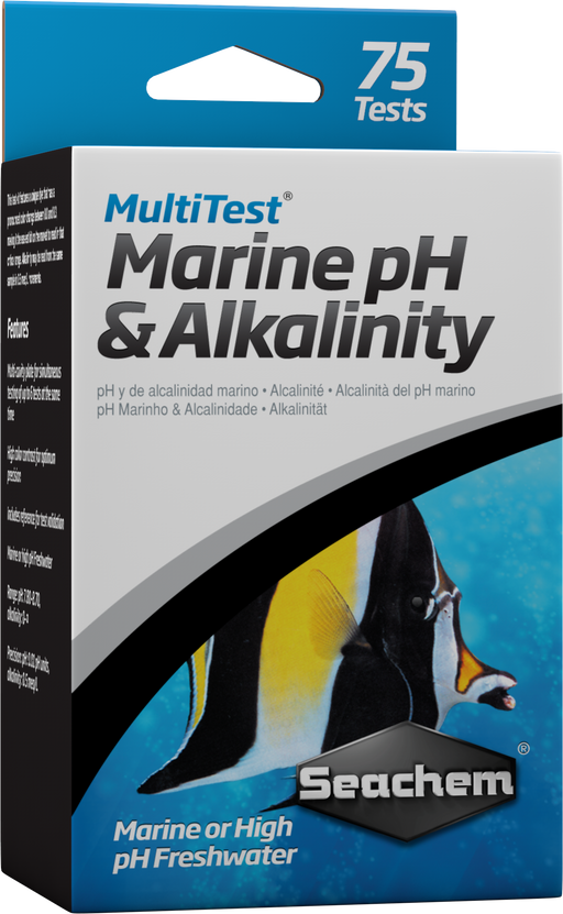 000116094009 0940 Seachem Test Kit Multi MultiTest Marine ph Freshwater HIgh ALkalinity