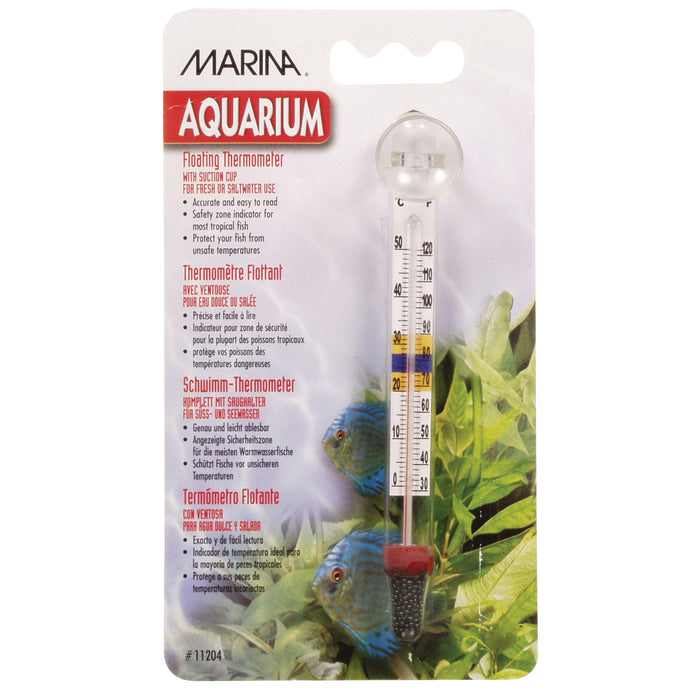 Marina Floating Glass Thermometer with Suction Cup