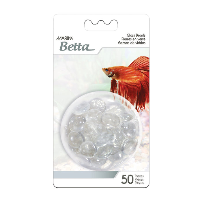 Marina Betta Decorative Marbles Clear - 50 pieces