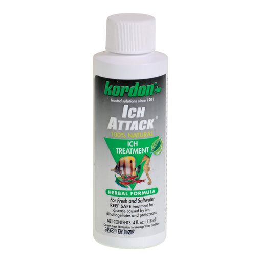 Kordon Ich Attack - Natural Parasite Medication 4 oz ounce 048054394447 39444
