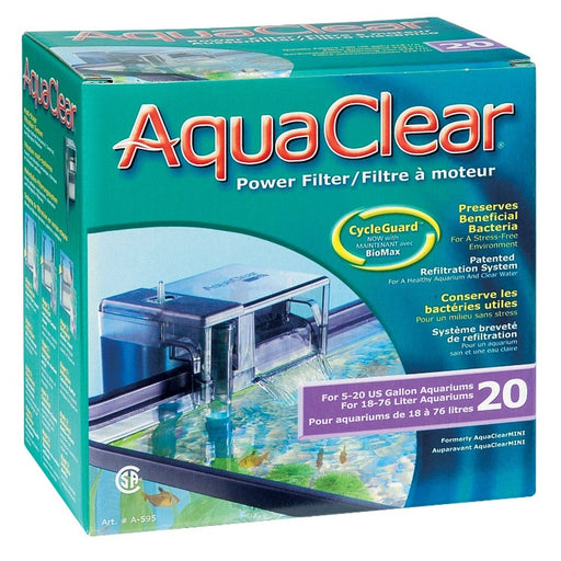 Aqua Clear 20 BackFilter A595 015561105958 backfilter  power filter fluval A-595 a 595