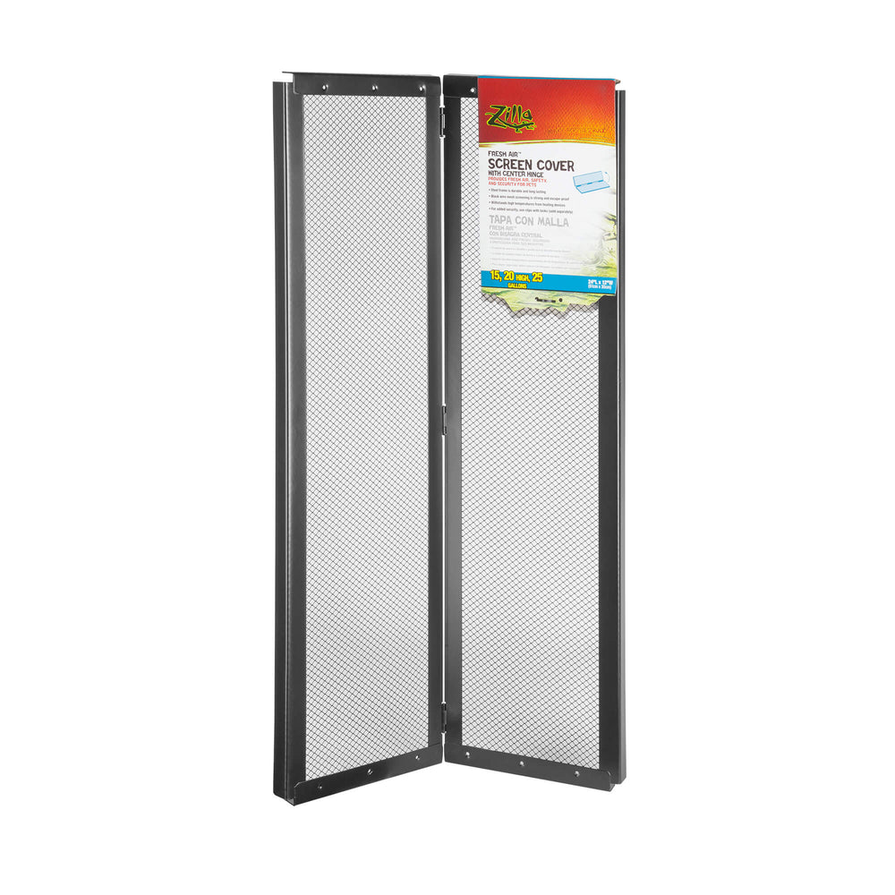 Zilla Fresh Air Screen Cover with Center Hinge  - 24x12