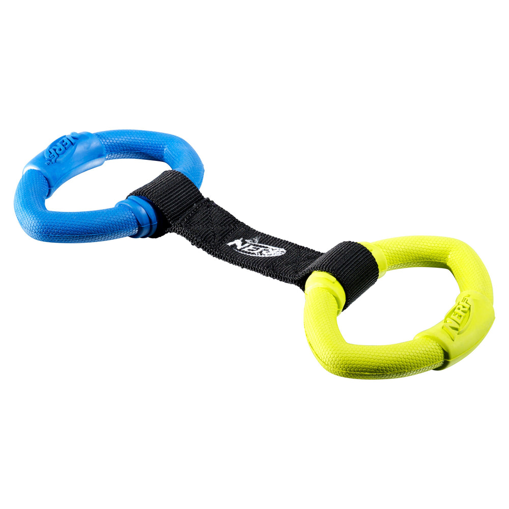 nerf pet 2 ring strap tug medium 13 inch 846998021906