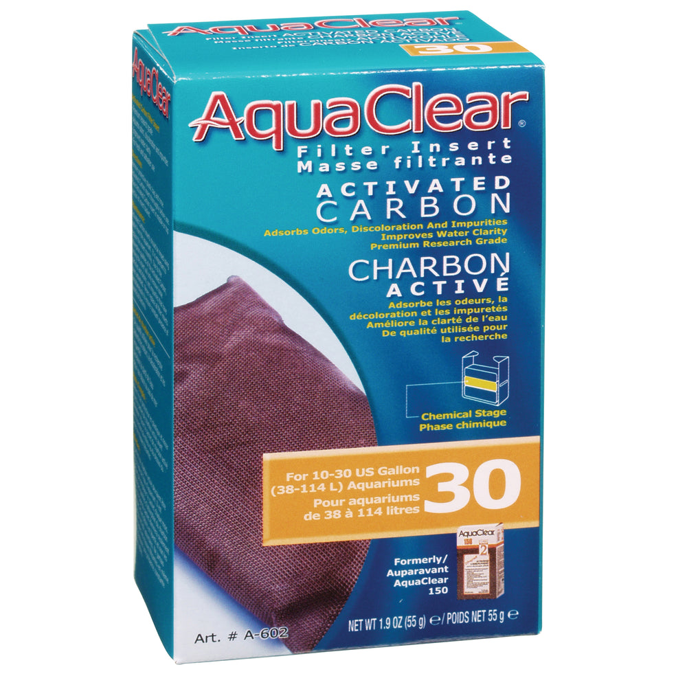 AquaClear 30 Activated Carbon A602 Fluval backfilter power filter a-602 a 602 015561106023