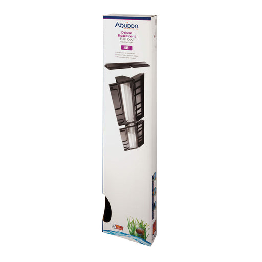 aqueon products 48 inch t8 florescent fluorescent flo hood light aquarium top 4 foot deluxe full  015905212489  100121248