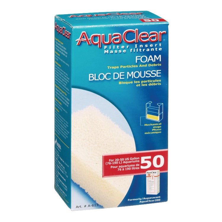 AquaClear 50 Foam Filter Insert A-613 FLuval  015561106139