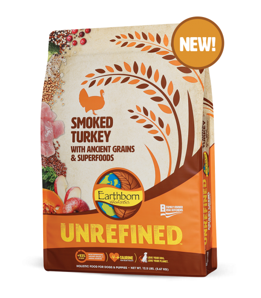 Earthborn Holistic Unrefined Smoked Turkey & Ancient Grains Dog Food