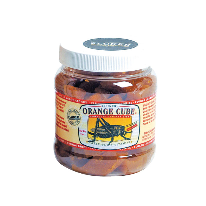 Fluker's Orange Cube Complete Cricket Diet 6 oz 6oz 71300 091197713002