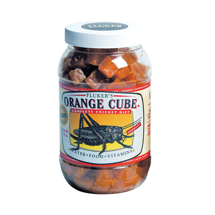Fluker's Orange Cube Complete Cricket Diet 12 oz 12oz 71301 091197713019