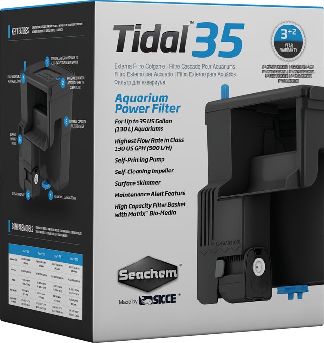 Seachem Tidal 35 BackFilter, up to 35 gallons