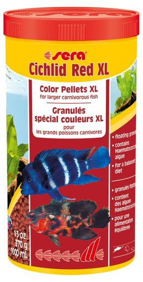 Sera Cichlid Red XL Color Pellets 13oz