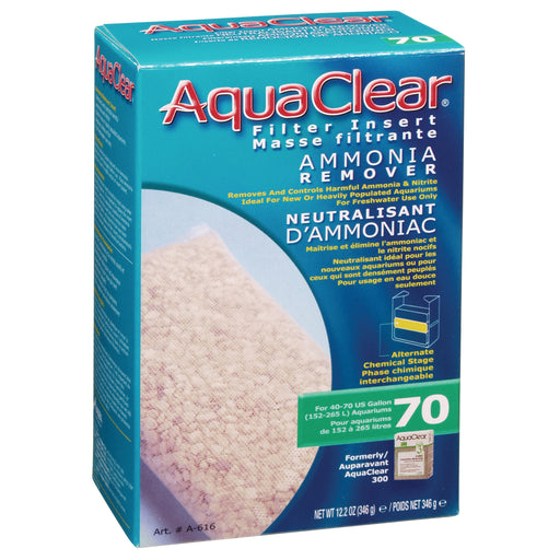 015561106160 Fluval AquaClear 70 Ammonia Remover A-616