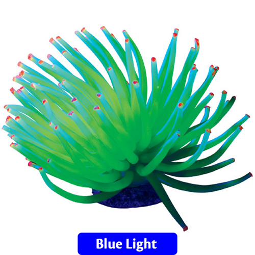 GloFish Aquarium Ornament Yellow Anemone