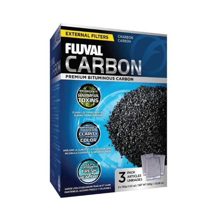 Fluval Canister Filter Carbon 3 x 100 gm Packs