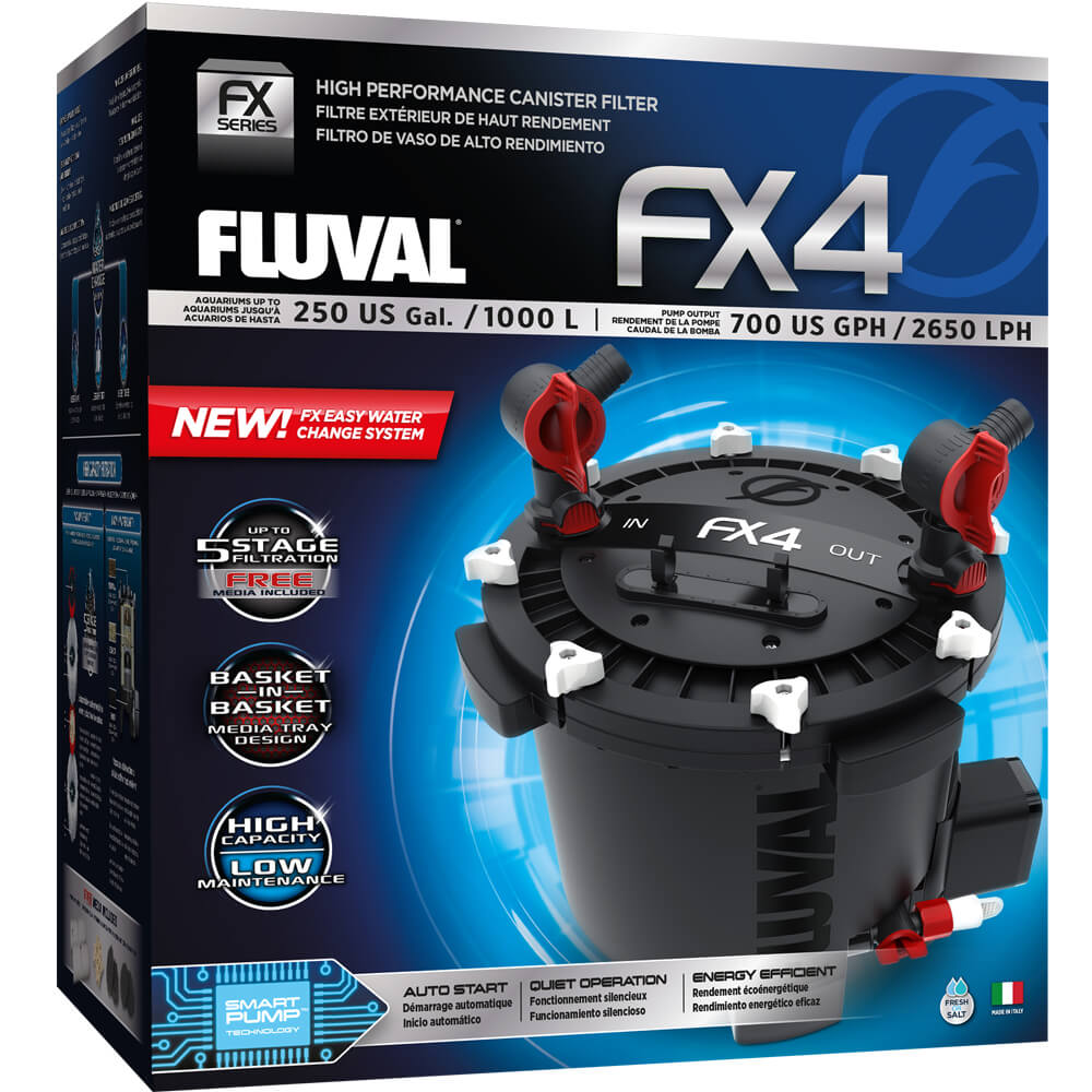Fluval FX4 FX 4 FX-4 canister filter under tank A214 015561102148 A-214