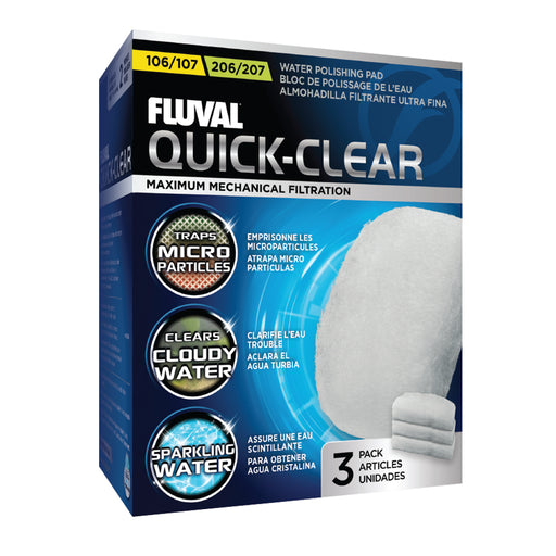 A242 015561102421 fluval water polishing pads Quick-clear quick clear 106/107 106 107 206/207 206 207