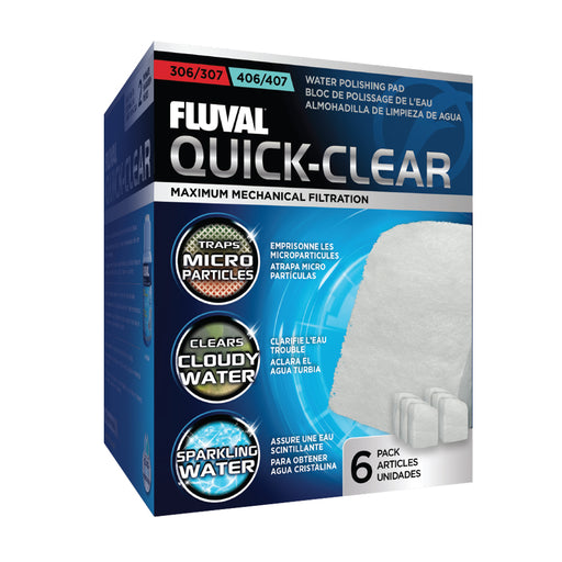 A244 015561102445 Quick Clear Quick-clear fluval water polishing pads 6 pack