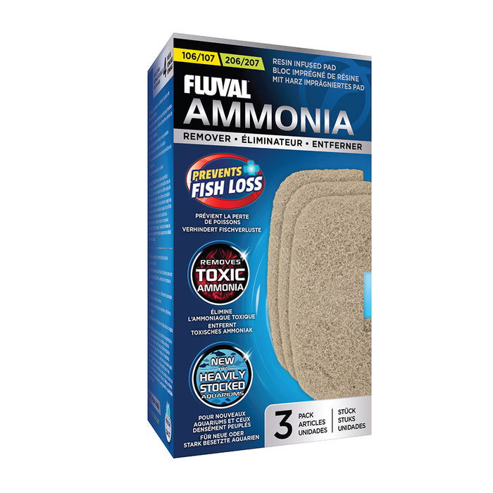 Fluval Canister Ammonia Remover Pads, 3 Pack 106-107 & 206-207 Premium Filter A-257 A257 015561102575