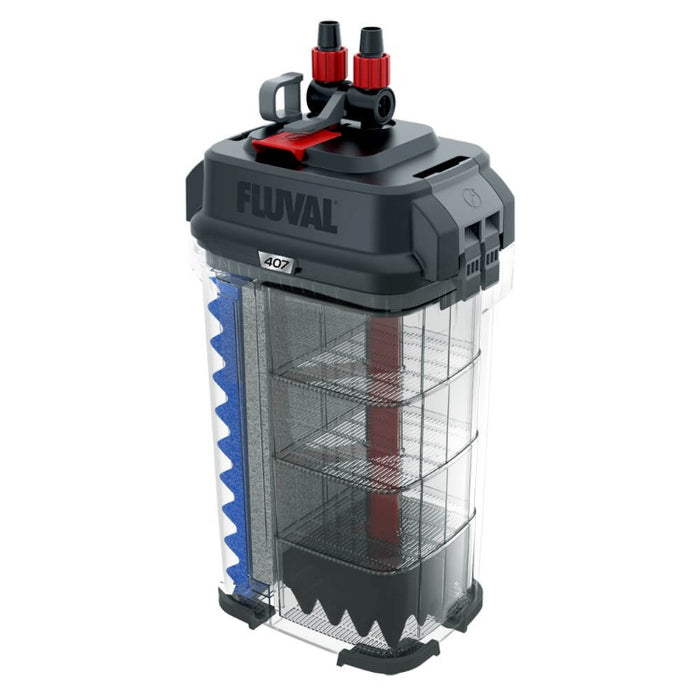 Fluval 407 Performance Canister Filter with Media - Up to 100 Gallon Aquarium