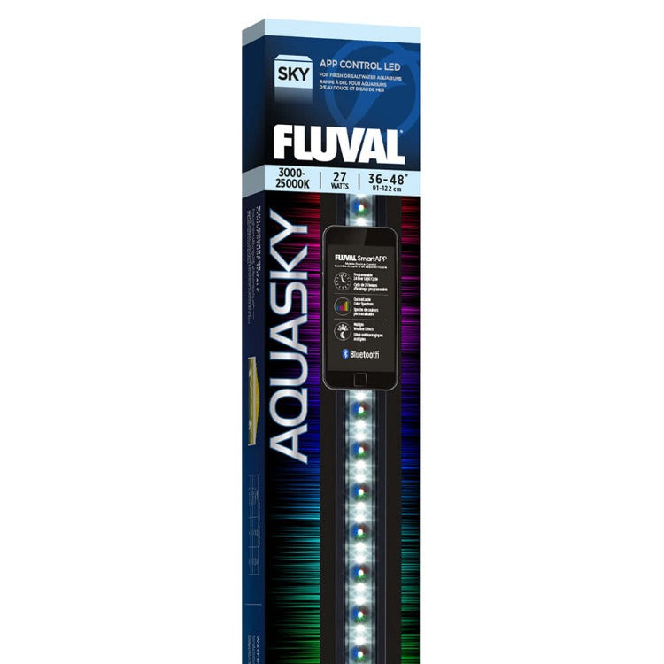 Fluval Aquasky Bluetooth 2.0 LED 27w 36-48 inch Light Fixture 14533 015561145336