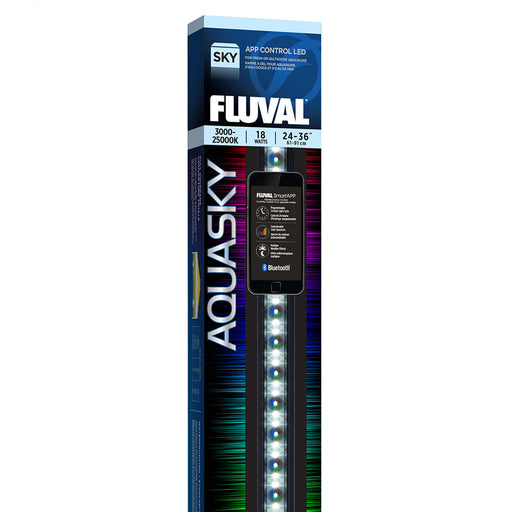Fluval Aquasky Bluetooth 2.0 LED 18w 24-32 inch Light Fixture 14532 015561145329