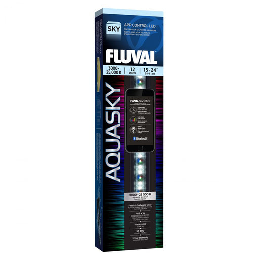 Fluval Aquasky Bluetooth 2.0 LED 12w 15-24 inch Light Fixture 14531 015561145312