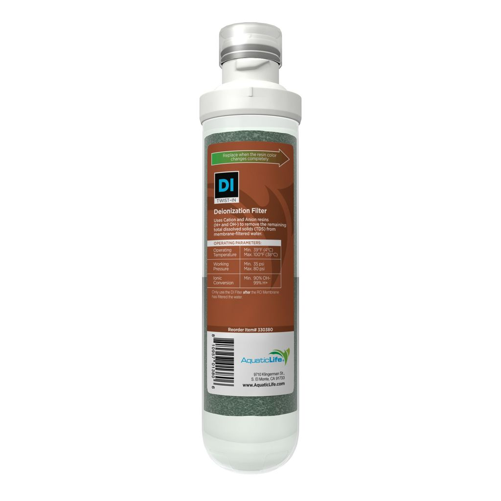 Aquatic Life Twist-In 4-Stage 100 GPD DeIonization Filter Cartridge, Stage 4