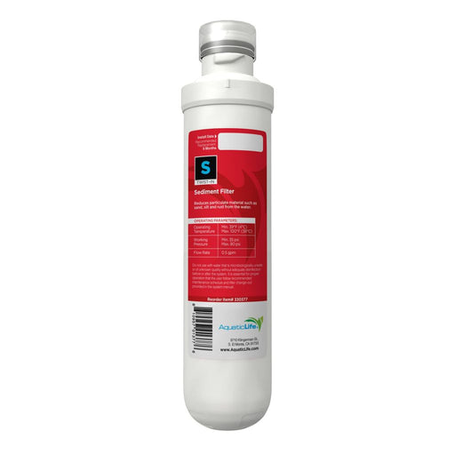 Aquatic Life Twist-In 4-Stage 100 GPD Sediment Filter Cartridge, Stage 1