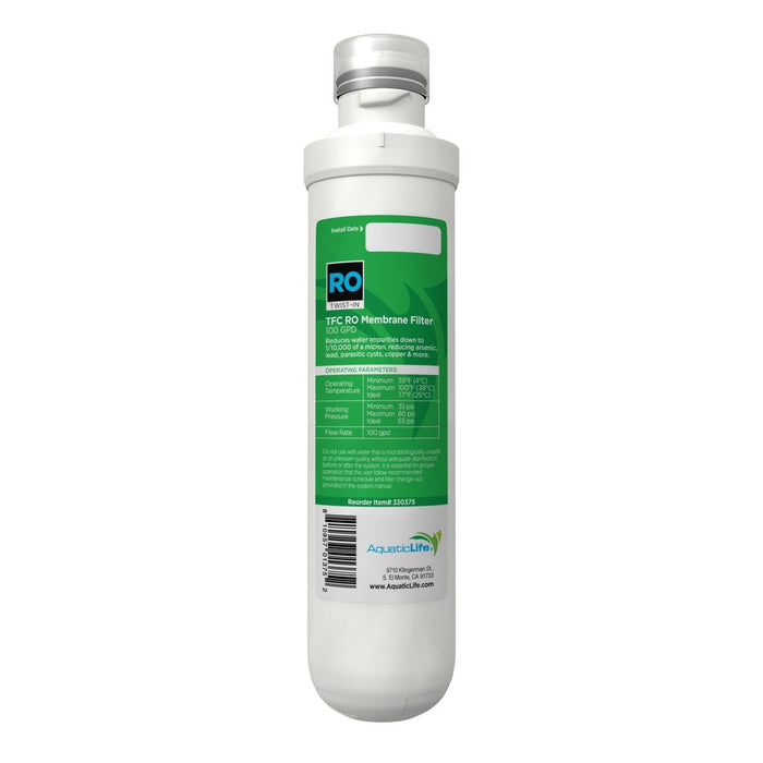 Aquatic Life Twist-In 4-Stage 100 GPD Replacement Membrane, Stage 3