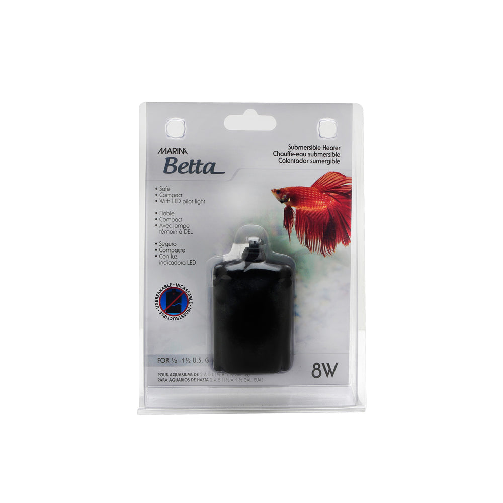 Marina Betta Submersible Heater for Bowls up to 1.5 Gallons