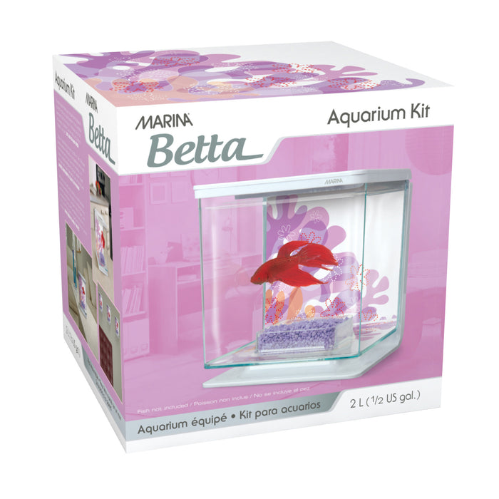 Marina Betta Kit 1/2 Gallon - Flower Theme