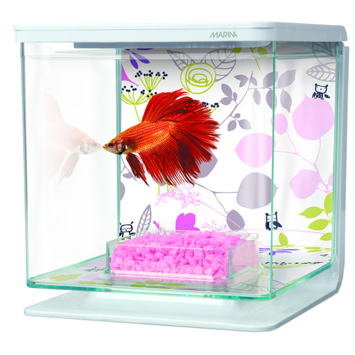 Marina Betta Kit 1/2 Gallon - Floral Theme