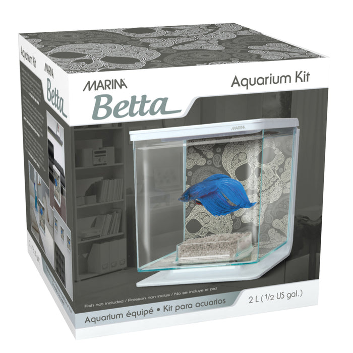 Marina Betta Kit 1/2 Gallon - Skull Theme