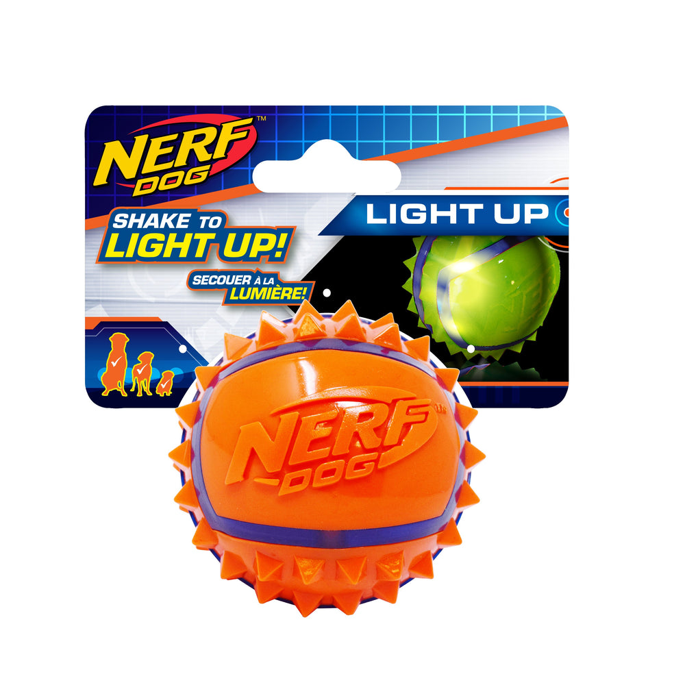 nerf dog blaster led spiked tennis ball 846998044639