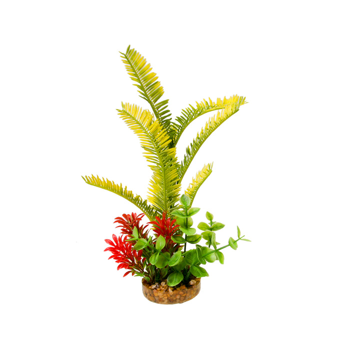 CB-2012-GR 030157014292 ColorBurst Florals Gravel Base Plant Sword - Green fish tank aquarium plastic weed