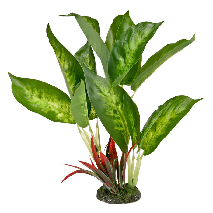 CB-3000-GR 030157017682 ColorBurst Florals Gravel Base Plant - Dieffenbachia Variegated 8.75 inches blue ribbon pet products fake artificial