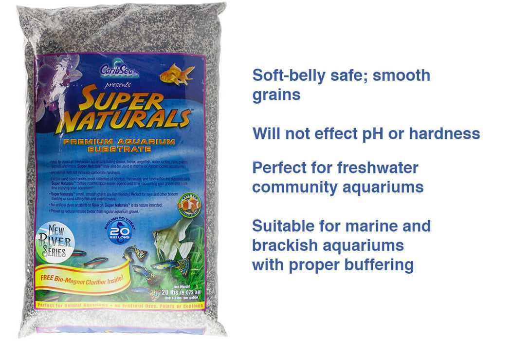 CaribSea Super Naturals Snowy River Gravel 20 lb Bag