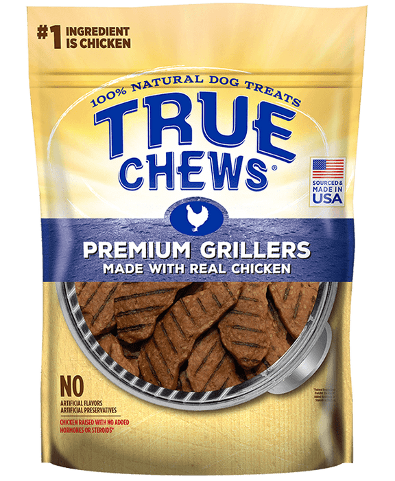 031400075411 True Chews Premium Grillers Chicken Dog Treats 12 oz ounce Tyson Pet Products