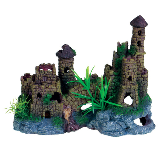 628742009749 Cobble Stone Cobblestone castle aquarium Fish tank Decoration ornament