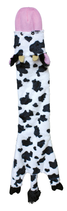 077234043172 4317 Cow plush skinneeez crinkler 23 inch ethical pet products spot