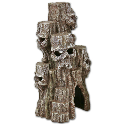 Exotic Environments Skull Mountain Tall Grey Ornament Aquarium Decoration Terrarium reptile EE-440 EE440 Blue Ribbon Pet Products 030157012441