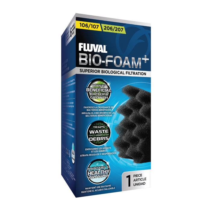 Fluval Canister Bio-Foam, 104-107 & 204-207 Black Filter Pad